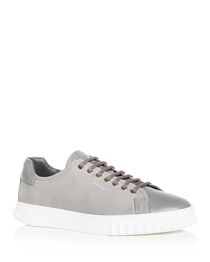Salvatore Ferragamo - Men's Nubuck Leather Low-Top Sneakers