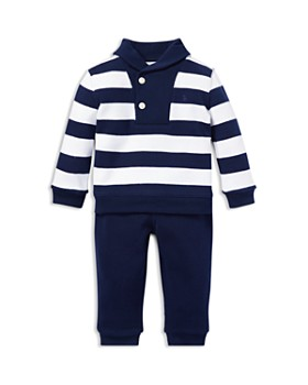 Ralph Lauren - Boys' Striped Cotton Sweater & Jogger Pants Rugby Set - Baby