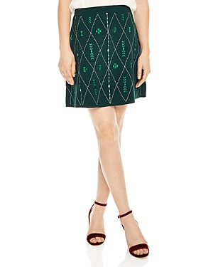 Sandro Damien Embroidered Mini Skirt
