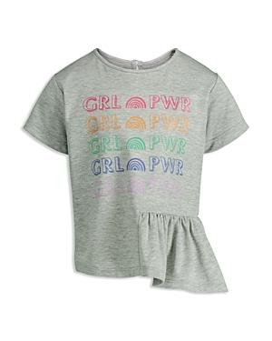 Mini Series Girls' Girl Power Ruffle Tee, Little Kid - 100% Exclusive