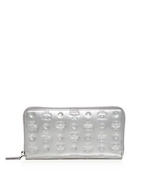 MCM - Embossed Patent Leather Continental Wallet
