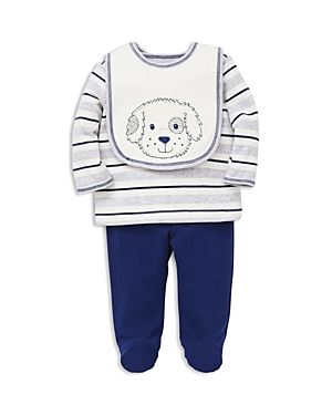 Little Me Boys' Puppy Pals Tee, Footie Pants & Bib Set - Baby