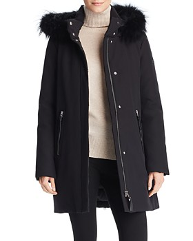 Derek Lam 10 Crosby - Fur Trim Hooded Down Parka