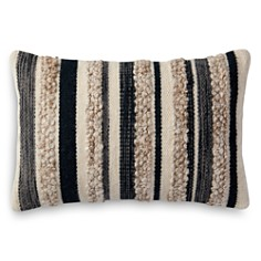 """Loloi Magnolia Home Embroidered Charcoal & Ivory Decorative Pillow, 13"""" x 21"""" - Bloomingdale's_0"""