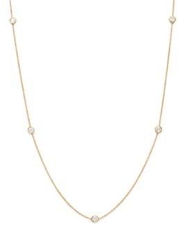 Bloomingdale's - Diamond Station Necklace in 14K Yellow Gold, .50 ct. t.w. - 100% Exclusive