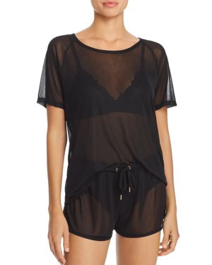 HONEYDEW SNEAK PEEK SHEER MESH TEE