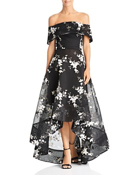 BRONX AND BANCO - Off-the-Shoulder Embroidered Ball Gown