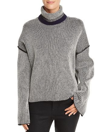 0fb06031072 Theory - Oversize Striped Cashmere Sweater