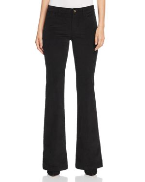 Michael Michael Kors Selma Corduroy Flare Jeans in Black - 100% Exclusive 3070949