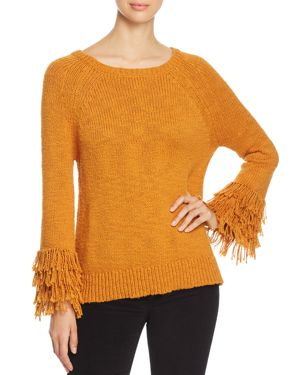Michael Michael Kors Fringe-Cuff Raglan Sweater - 100% Exclusive