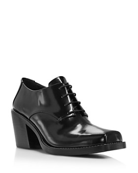 Creatures of Comfort - Women's Colin Square Toe Leather Mid-Heel Oxfords