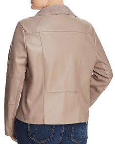 Bagatelle Plus - Draped Faux Leather Jacket