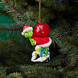 Kurt Adler Grinch Santa Personalized Ornament