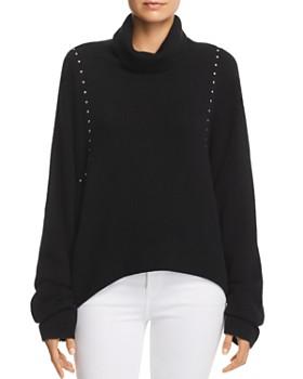 The Kooples - Studded Draped Turtleneck Sweater