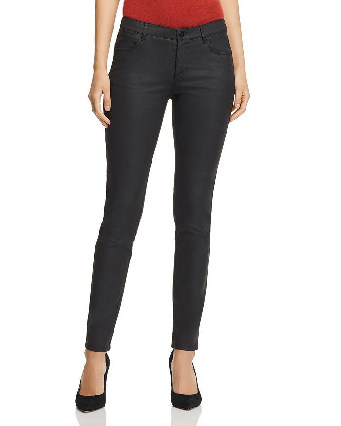 Lafayette 148 New York - Mercer Coated Skinny Jeans in Black