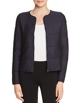 Majestic Filatures - Quilted Knit Crop Jacket
