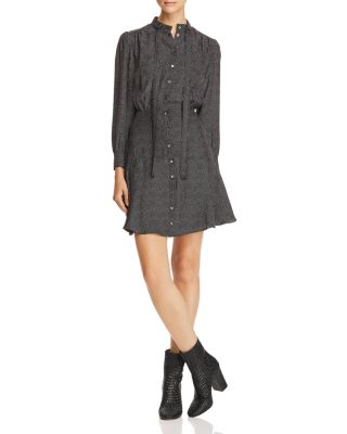 Sprinkle Dot Silk Shirt Dress by Rebecca Taylor