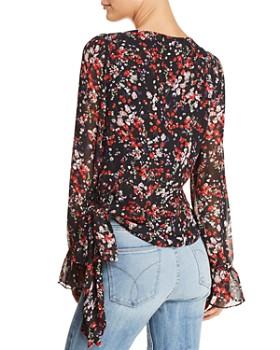 Lucy Paris - Floral Print Faux-Wrap Top