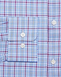 BOSS - Checked-Plaid Regular Fit Dress Shirt