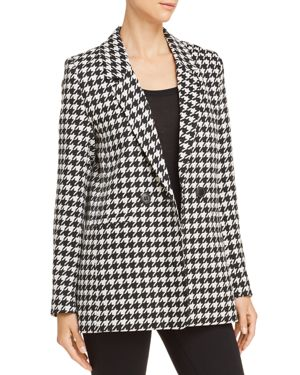 ANINE BING Maureen Houndstooth Blazer in Multicolored