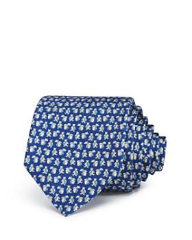 Salvatore Ferragamo - Bears with Neckties Silk Classic Tie
