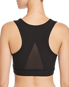AQUA - Mesh-Inset Sports Bra - 100% Exclusive
