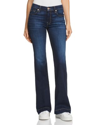 7 For All Mankind Womens Flare Wide Leg Jean