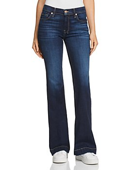 7 For All Mankind - Dojo Flared Jeans in B(air) Authentic Fate