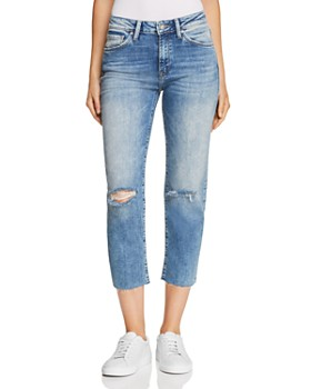 Mavi - Niki Crop Tapered Jeans in Light Ripped Vintage