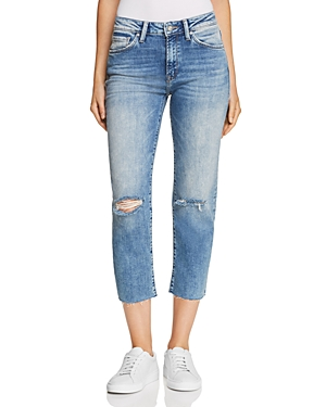 Mavi NIKI CROP TAPERED JEANS IN LIGHT RIPPED VINTAGE