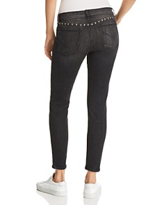 Hudson - Barbara Washed Skinny Jeans in Studded Black - 100% Exclusive
