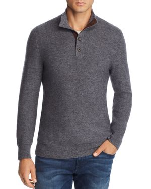 The Men's Store at Bloomingdale's Suede-Trimmed Pullover Sweater - 100% Exclusive