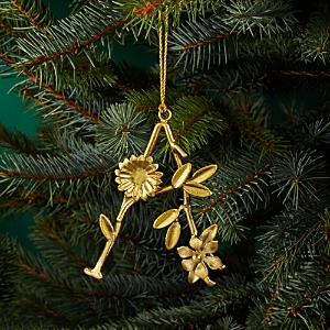 Aman Imports Metal Leaf Letter Ornament
