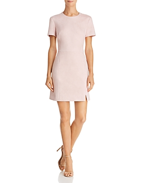 French Connection Faux Suede A-Line Dress