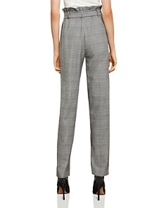 BCBGMAXAZRIA - Plaid Paperbag-Waist Pants