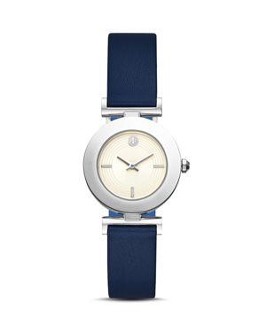 Sawyer Reversible Leather Strap Watch, 29Mm, Blue/ Black/ Silver