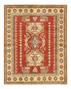 """Solo Rugs - Kazak Hand-Knotted Area Rug, 5'2"""" x 6'5"""""""