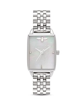 Olivia Burton - Stainless Steel Beehive Watch, 20.5mm x 25.5mm