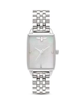 Olivia Burton - Stainless Steel Beehive Watch, 20.5mm x 25.5mm