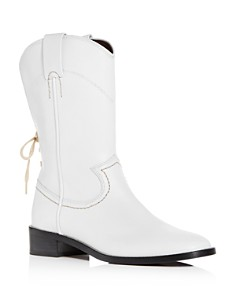 See by Chloé - Women's Annika Leather Low-Heel Cowboy Boots