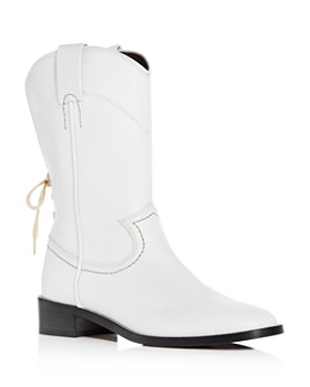 8315bd5ff7e7 See by Chloé - Women s Annika Leather Low-Heel Cowboy Boots ...