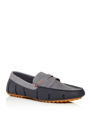SWIMS MEN'S LUX NUBUCK LEATHER & RUBBER PENNY LOAFER DRIVERS