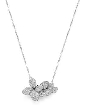 """Pasquale Bruni - 18K White Gold Stelle in Fiore Diamond Pendant Necklace, 16.5"""""""