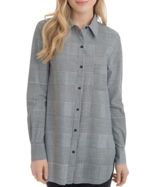 SCHIFFER GLEN PLAID TUNIC SHIRT