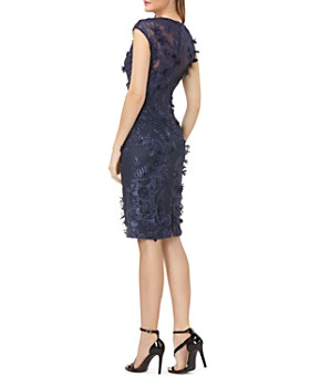 Carmen Marc Valvo - Floral Appliqué Dress