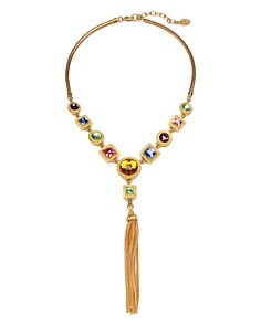 Ben Amun - Multi Crystal Tassel Y Necklace
