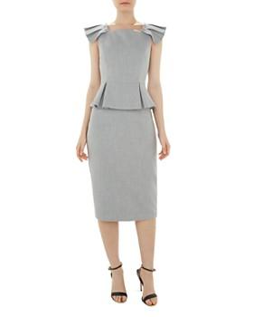 Ted Baker - Daizid Pleat-Detail Peplum Dress