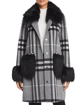 Maximilian Furs - Fox Fur Trim Coat - 100% Exclusive