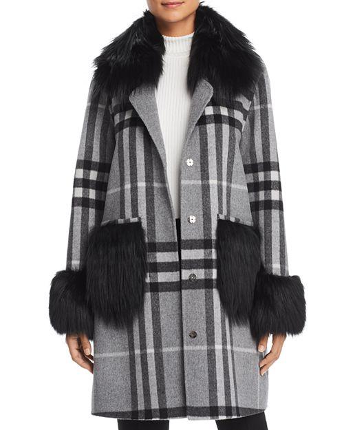 Maximilian Furs - Fox Fur Trim Coat - 100% Exclusive