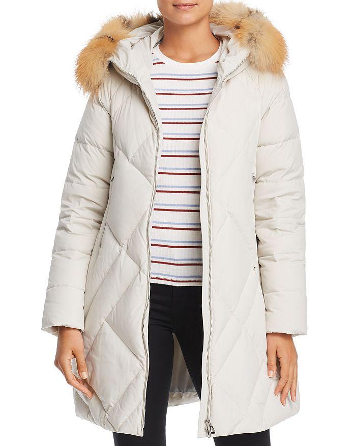 Maximilian Furs - Fox Fur Trim Down Coat- 100% Exclusive